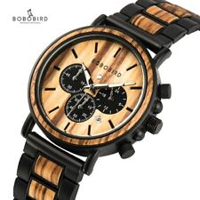 BOBO BIRD Wooden Watch Men Stylish Wood Timepieces in Wood Gift Box