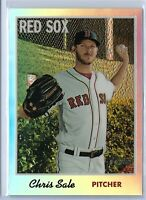 2019 Topps Heritage Baseball Chris Sale Chrome Refractor 399/570 Boston Red Sox