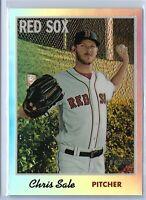 2019 Topps Heritage Baseball Chris Sale Chrome Refractor 399/570 Boston Red Sox