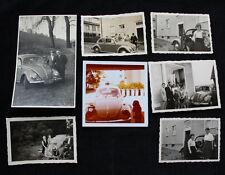 Sammlung von 7 alten Fotos mit VW Käfer / Oldtimer
