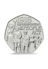50p Coin 2018 Representation Of The People Act 1918 Fifty Pence Rare Collectible