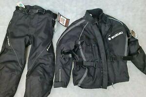 "AGV Sport Motorbike Suzuki Jacket and Trouser Set Size Medium Jacket 34"" Waist"