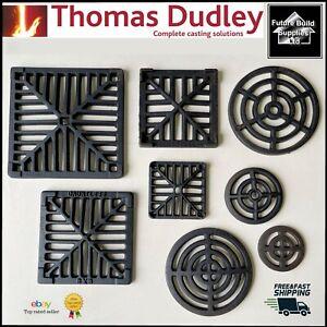Square Dish Round Cast Iron Gully Grid Grate Heavy Duty Drain Cover Black Finish
