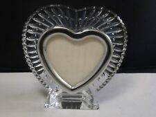 WATERFORD CRYSTAL HAND CUT HEART  FRAME FROM IRELAND WEDDING GIFT ORIGINAL STYLE