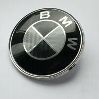 Front hood Black/Red /Blue Carbon Fiber Emblem Badge 82mm All Series Fit BMW M