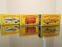 Matchbox Lesney  / Special Lot  3 X Repro  empty Box style E