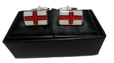 NEW English St George Flag Cufflinks in Gift Box Mens Patriotic Novelty Husband