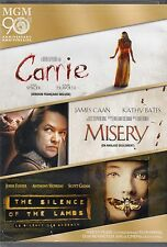 """USE TRIPLE FEATURE DVD""""S//  CARRIE + MISERY + THE SILENCE OF THE LAMBS // HORROR"""