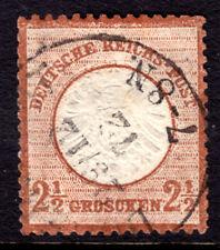 GERMANY #19 2½gr ORANGE BROWN, 1872 LARGE SHIELD, VF, CDS
