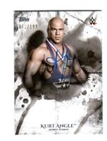 WWE Kurt Angle 2018 Topps Undisputed On Card Autograph SN 71 of 199
