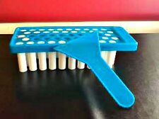 DIY Lip Balm Starter Kit  Teal blue Filling Tray, & 50  Empty Tubes .15 oz  New