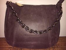 Coccinelle Leather Brown Shoulder Hobo Grab Chain VGC Designer Small VGC Italian