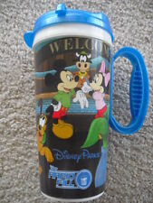 DISNEY WORLD RESORTS **BLUE** REFILLABLE CUP w/ LID