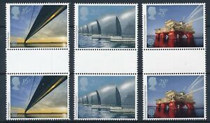 [P5821] Great Britain 1983 Architecture good sets (3) gutterpair stamps VF MNH