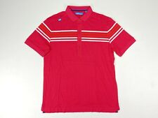 Bunker Mentality Stripe Golf Polo Shirt Pink Mens SZ Large NEW!!