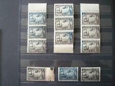 SPAIN 1930 AIR MAIL Nr 83+83a MNH** COT. +180 EUR LOT 12 VARIETIES 2 COLORS
