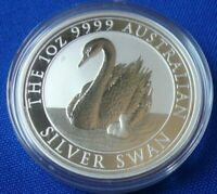 2018 Australian Swan BU 1 oz .999 Silver Round Coin in Capsule Perth Mint trump