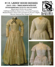 Ladies' Historic 1840s-1852 Round Dresses 6-26 Laughing Moon Sewing Pattern 114