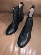 New Frye Women's Black Leather Anna Pull On Chelsea Ankle Boots Bootie 8