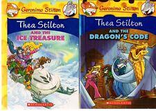 GERONIMO STILTON x 2: THEA STILTON AND THE DRAGON'S CODE AND THE ICE TREASURE