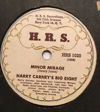 78rpm Rare! Jazz Harry Carney H.R.S.1020 with Billy Taylor's Big Eight (M-)  78s