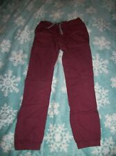 Route 66 Maroon Elastic Waist Pants with Elastic at cuffs Size 10/12 L(Large)