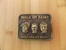 Jockey Walk Of Fame Hollywood Park Belt Buckle - Longden Shoemaker Arcaro