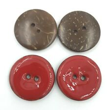 10Pcs 25mm Coconut Shell Enamelled Buttons Sewing Tools Clothing Accessories