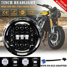 "7"" 200W LED Headlight 12 Lens DRL Hi-Lo Beam for Harley Yamaha Honda Motorcycle"