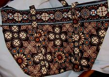 "Vera Bradley CANYON Pattern Large Tote Bag Shoulder Carry-on 22""X 12. 5 ""X 7"" XL"