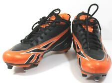NFL V.Young Electrify Reebok Cleats Size 9.5 Black/Orange Pump Football