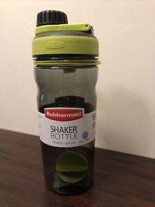 RUBBERMAID 20 OZ. SHAKER BOTTLE Lime Green/Grey  NEW 1896463
