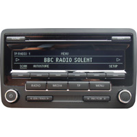 VOLKSWAGEN RCD310 CD RADIO MP3 PLAYER CAR STEREO CODE GOLF POLO PASSAT CADDY VW
