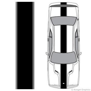 Center Racing Stripe 3M Vinyl Decal Kit for Dodge Challenger