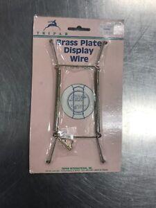 Plate Hanger BRASS Wire Display Tripar 23-1307 New