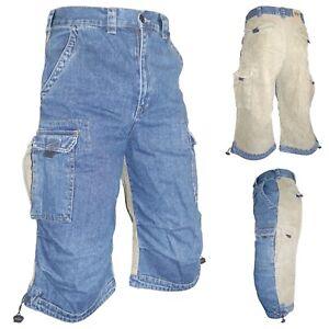 CRYSULLY Herren 3//4 Jogginghose Workout Capri Shorts Unterkniehose Kurze Hose Rei/ßverschluss Taschen
