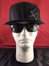 New Era 59Fifty Los Angeles Dodgers Solid Black Lrge Black LA LOGO Flat Bill Hat