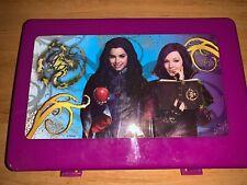 Disney Descendants Pencil Case Purple Plastic School Bin