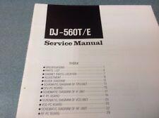 ALINCO DJ560T/E ALINCO Manuale di servizio originale