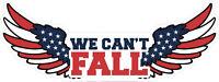 American Flag Laminted Vinyl Bumper Sticker Decal