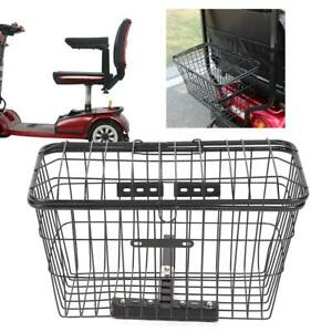 Iron Rear Basket Accessory for Mobility Scooter Electrombile Bicycle Outdoors