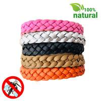 Anti Mosquito Repellent Leather Bracelet 5pcs/5 colors Wristband Repellent Bands
