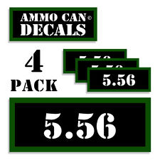 """5.56 Ammo Can 4x Labels Ammunition Case 3""""x1.15"""" stickers decals 4 pack 5.56 CAL"""
