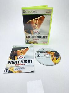 Fight Night Round 3 (Microsoft Xbox 360 2006) Complete with Manual