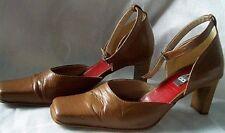 Bullboxer - Vintage Dames Chaussures - Pumps - Gr. 39 Royaume-Uni 5,5 - Marron -