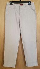 Merona Seersucker Straight Leg Pants Size 6 Gray and White 100% Cotton