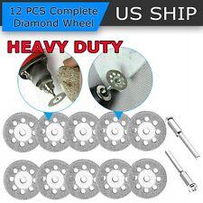 12x Diamond Cutting Wheels For Dremel Rotary Tool die grinder metal Cut Off Disc