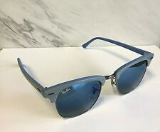 Nice Ray-Ban Clubmaster Sunglasses Grey & Blue / Blue Gradient RB 3016 1102/3Q