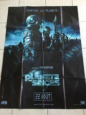 affiche originale La Planete Des Singes Tim Burton 120x160