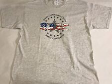 D.A.R.E. DARE Drug Abuse Resistance Education America Flag Gray T-Shirt XL (A4)